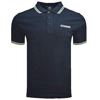 Lambretta Triple Tipped Polo - Navy/White/Blue/DuskyCitron