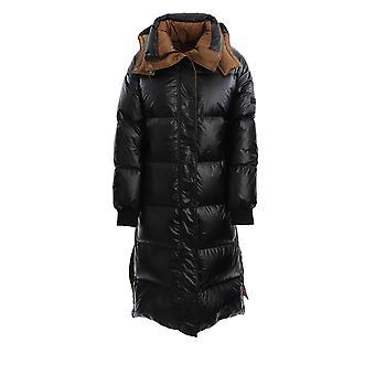 Yves Salomon 21wfm04020a11wb2399 Women's Black Nylon Down Jacket