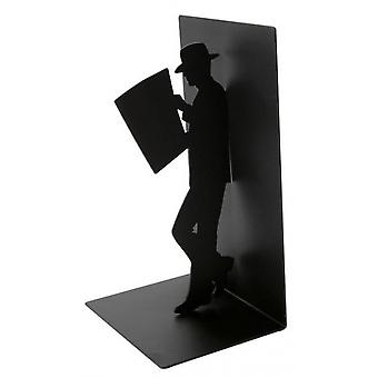 bookend Der Reader 17 x 10 cm Metall schwarz