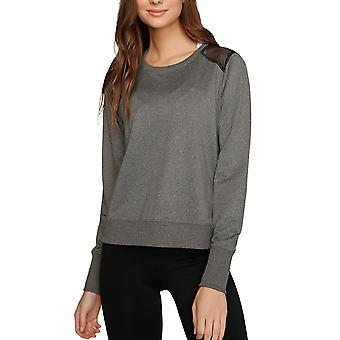 Kyodan Womens Long Sleeve Sweater Pull over Mesh back Top