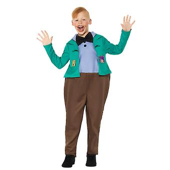 Boys Roald Dahl Augustus Gloop Willy Wonka And The Chocolate Factory Costume