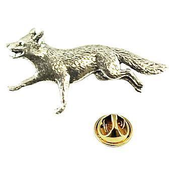 Ties Planet Running Fox Engels Pewter Lapel Pin Badge