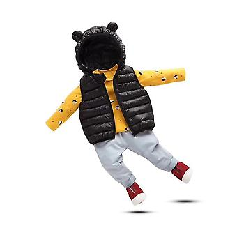 Winter Down Clothes For Kids Hooded Warm Vests Outwear Clothes