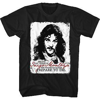 Black and White Inigo Montoya Princess Bride T-Shirt
