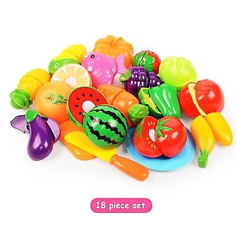 Housekeeping Education For Baby, Surwish Plastic Fruit Vegetables Cut