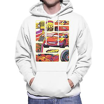 Pixar Cars Lightning McQueen Multiangle Montage Men's Hooded Sweatshirt