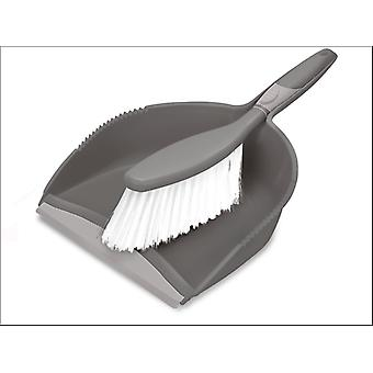 Addis Comfi Grip Dustpan Set Granit / Metallic 517701