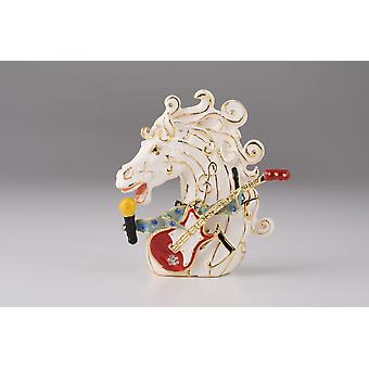 Horse Head With A Guitar Trinket Box