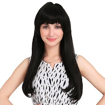 Wig Long Straight Hair Cap