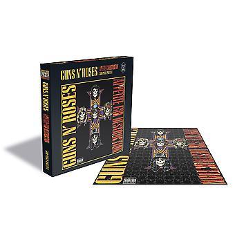 Guns n' roses - aptit för förstörelse 2 album täcker 500pc pussel