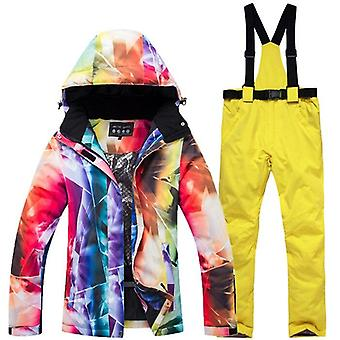 Tuta da sci calda spessa, giacca da sci impermeabile / antivento e snowboard e