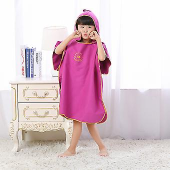 Kids Shower Microfiber Fast Drying Wrap Robe