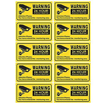 Waterproof Video Camera, Surveillance Security Stickers, Decals Warning Alarm