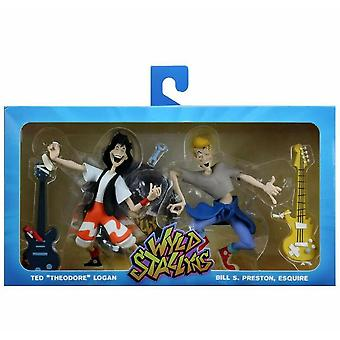 NECA Bill And Ted'S Excellent Adventure Toony Classics 2-Pack 6 Inch Scale Action Figure Set