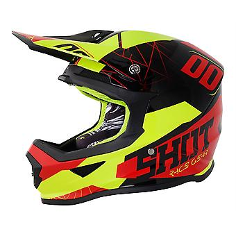 Shot Furious Spectre Motocross Helm Grey Red Neon Yellow ACU goedgekeurd