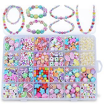 500PCS Kids DIY Beads Girls Plastic Pop Beads for Kids DIY Toys Girls DIY Jewelry Toys DIY Necklace Bracelet Headband Kit