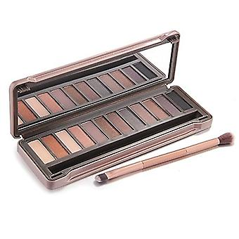 12 Colours Eyeshadow Palette With Mirror | Natural Nude Tones