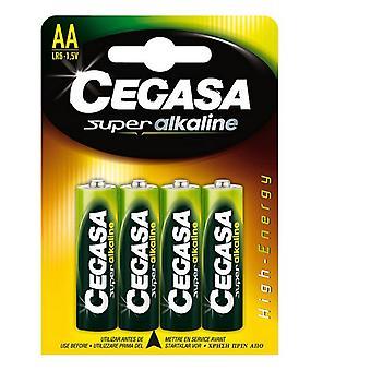 Alkaline Batteries Cegasa LR6 AA 1,5V (4 uds)