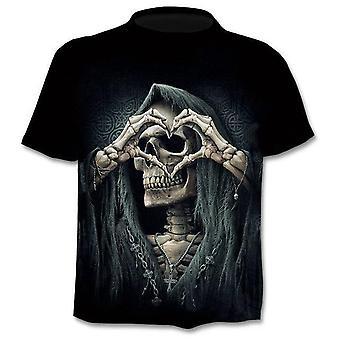 3D Tlačený Punk Štýl Top Tees Lebka Gothic Tričko / ženy