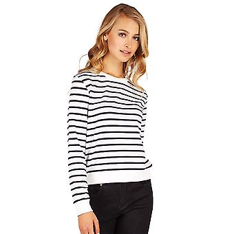 Louche Womens Jayton Stripe Long Sleeve Jumper Navy/White