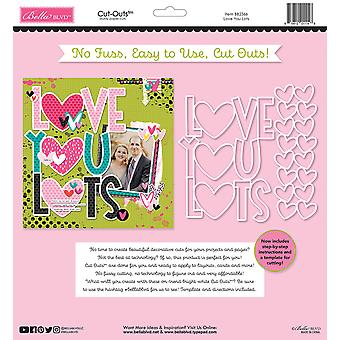 Bella BLVD Besties Love You Lots 12x12 Inch Cut Outs