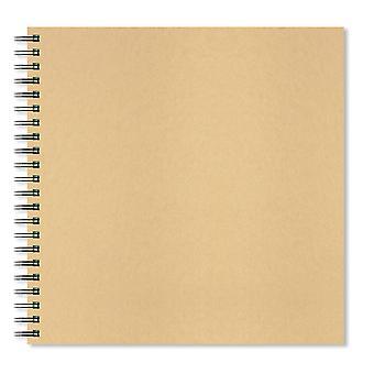 Artgecko krafty Skizzenbuch (300mm Quadrat) - 80 Seiten (40 Blatt) 150gsm säurefrei weiße Patrone pa