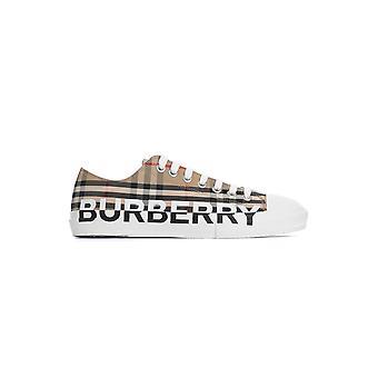 Burberry 8024149a7026 Heren's Beige Fabric Sneakers