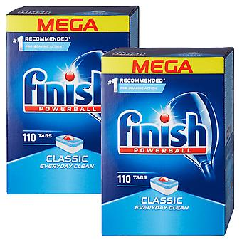 2 x Finition 110 Comprimés Powerball Lave-vaisselle Washing Up Dish Everyday Cleaner Mega Pack