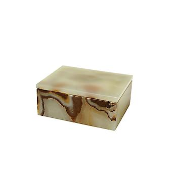 """Spura Home Asteria Collection 5"""" Light Green Onyx Polished Finish Marble Rectangular Box"""