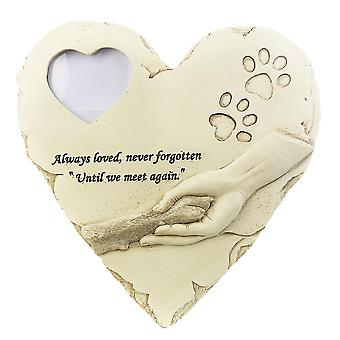 Pet Keepsake Gravestone Tomb Dog Cat Paw Funeral Footprint Shaped Photos