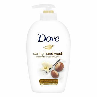 3x of 250ml Dove Shea Butter&Warm Vanilla Caring Hand Wash for Moisturised Hands