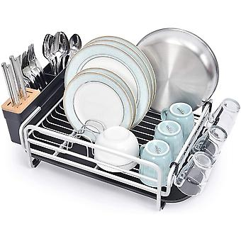 kingrack Aluminum Dish Drainer, Large Dish Drying Rack,Dish Rack with Removable Drip Tray,Removable