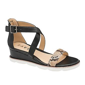 Ravel Junee Wedge Sandals for Women and Girls  - Black
