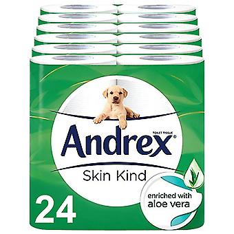 Andrex Toilet Roll Skin Kind with Aloe Vera Extract 2 Ply Toilet Paper, 24 Rolls