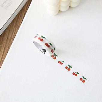Cute Salt Flower Love Masking Washi Tape Cherry Bear Decorative Adhesive Tape