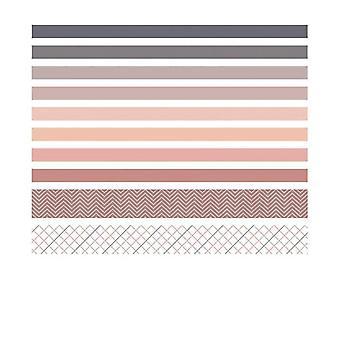 Vintage Grid Stripe Washi Tape