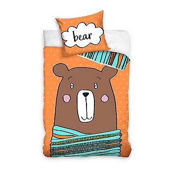 cover bear 140 x 200 cm orange