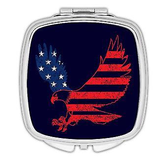 Gift Compact Mirror: Eagle American Flag