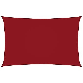 vidaXL الظل الشراع أكسفورد النسيج مستطيلة 2x4.5 م الأحمر