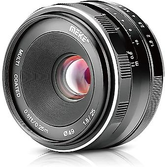FengChun 25mm f / 1.8 Große Blende Weitwinkel Objektiv Manuelles Fokus Objektiv für Sony E-Mount