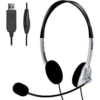 FengChun PC Headset, USB Headset mit Mikrofon Noise Cancelling Lautstärkeregler, Computer Chat