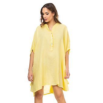 Linnen oversized V hals jurk