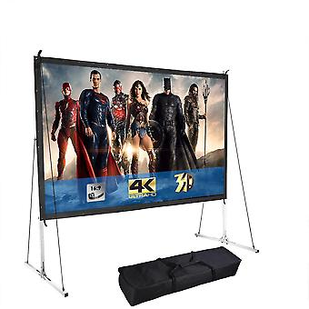 """Instahibit 120"""" Portable Fast Folding Projector Screen 16:9 HD with Stand and Carry Bag for Indoor Outdoor"""