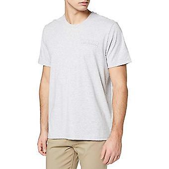 Lee Tonal Logo Tee T-Shirt, Grey (Sharp Grey Mele 03), Large Man