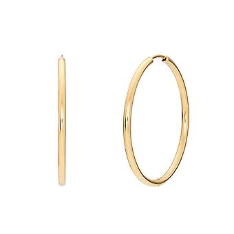 """OELANI - Women's hoop earrings, in gold-plated silver 925, size 34 mm large """"Circle"""