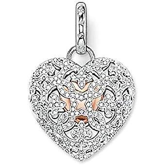 Thomas Sabo sydämen muotoinen naisriipus-hopea riipus 925 zirkonit - läpinäkyvä PE707-416-14