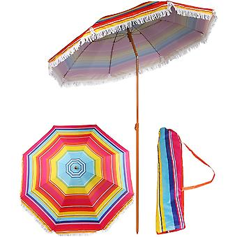 Parasol 180 cm - beach umbrella with bag - pink
