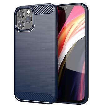 Tpu carbon fiber hoesje voor iphone 12 pro max blauw mfkj-758