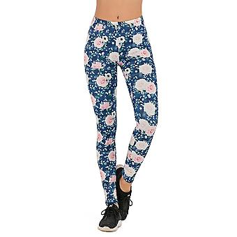 Women Fashion Legging, Fluorescent Tree Branch Printing Slim High Waist Pants