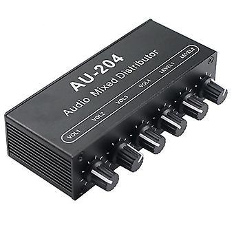 Stereo Mixer Push Vier Kopfhörer oder externe Leistungsverstärker